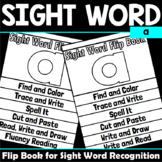 Sight Word Flip Book for a