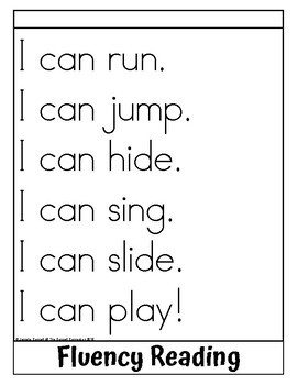 Sight Word Flip Book for can