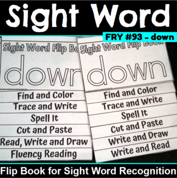 Sight Word Flip Book for down