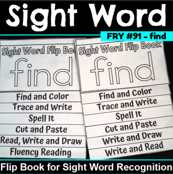 Sight Word Flip Book for find
