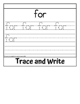 Sight Word Flip Book for for