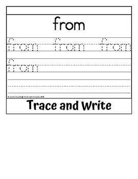 Sight Word Flip Book for from