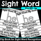Sight Word Flip Book for he