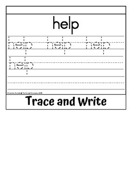 Sight Word Flip Book for help