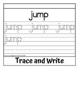 Sight Word Flip Book for jump