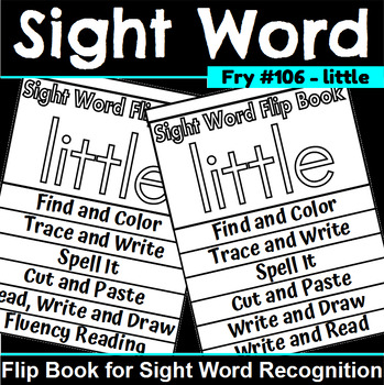 Sight Word Flip Book for little