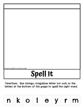 Sight Word Flip Book for more