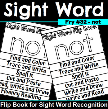 Sight Word Flip Book for not