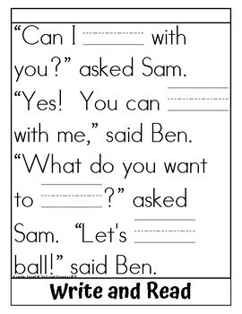 Sight Word Flip Book for play