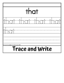 Sight Word Flip Book for that