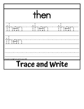 Sight Word Flip Book for then