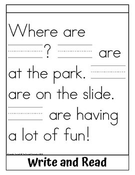 Sight Word Flip Book for they