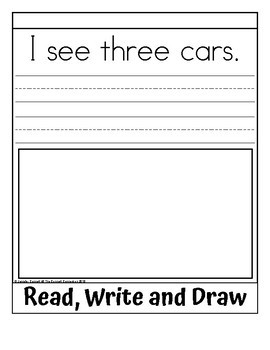 Sight Word Flip Book for three