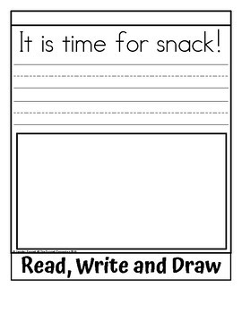 Sight Word Flip Book for time