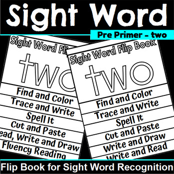 Sight Word Flip Book for two
