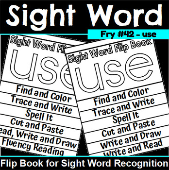 Sight Word Flip Book for use