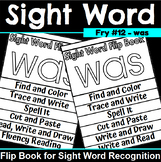 Sight Word Flip Book for was