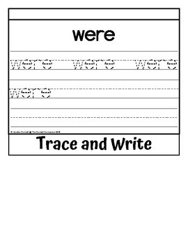Sight Word Flip Book for were