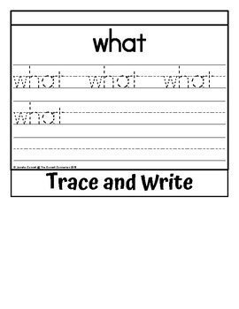 Sight Word Flip Book for what