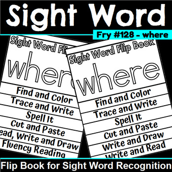 Sight Word Flip Book for where