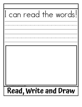 Sight Word Flip Book for words