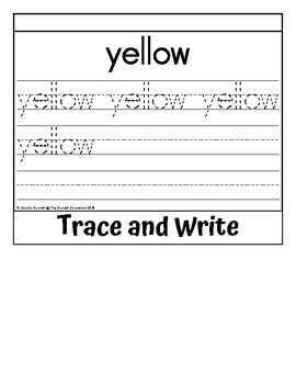 Sight Word Flip Book for yellow