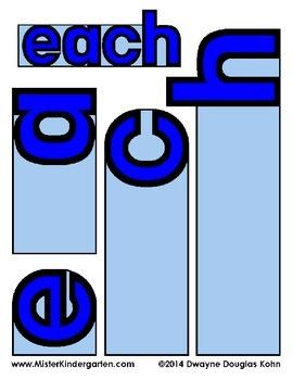 Sight Word Flip Books: BLUE LEVEL