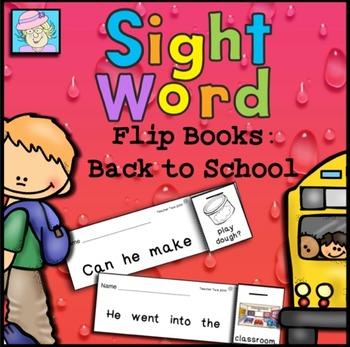 Flip Books for Back to School