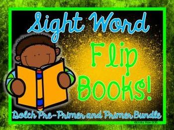Sight Word Flip Books - Dolch BUNDLE