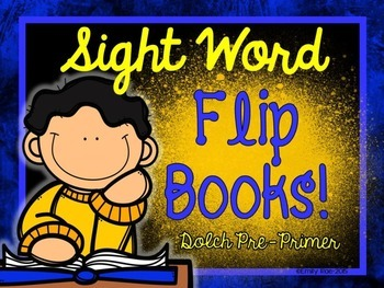 Sight Word Flip Books - Dolch Pre-Primer
