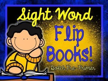 Sight Word Flip Books - Dolch Pre-Primer