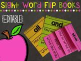 Sight Word Flip Books - Editable