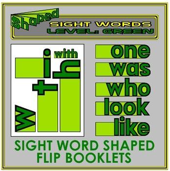 Sight Word Flip Books: GREEN LEVEL