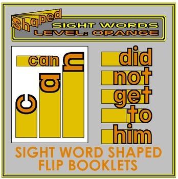 Sight Word Flip Books: ORANGE LEVEL