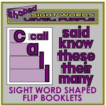 Sight Word Flip Books: PURPLE LEVEL