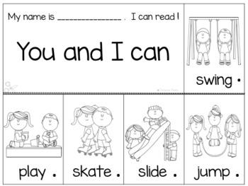 Sight Word Flip Books PreK and Kindergarten