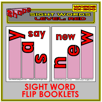 Sight Word Flip Books: RED LEVEL (Second 100 Word List)