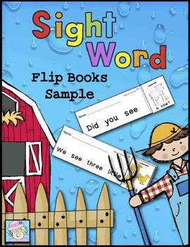 Sight Word Flip Books Sample