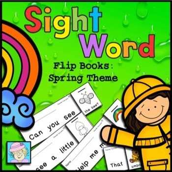 Sight Word Flip Books for Spring