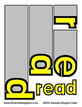 Sight Word Flip Books: YELLOW LEVEL (Second 100 Word List)