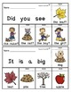 Sight Word Flip Books for Fall