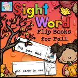 Fall Sight Word Books Kindergarten | Sight Word Books Kindergarten