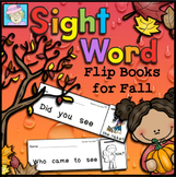 Fall Sight Word Flip Books
