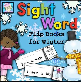 Sight Word Flip Books for Winter