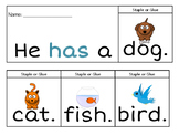 Sight Word Flip Books: see, like, look, has, go!