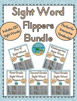 Sight Word Flippers Bundle: 220 Words