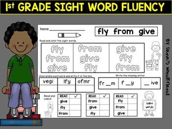 1st Grade Sight Words Fluency