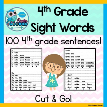 Sight Word Fluency (4th Grade)