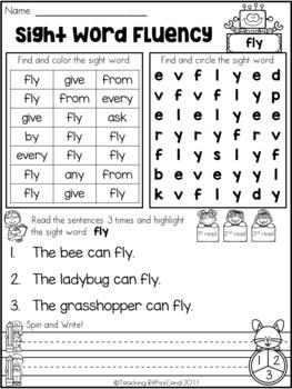 Sight Word Fluency Activities (Set 3)