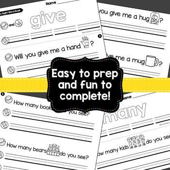 Sight Word Fluency Books {Compatible With Kindergarten Journeys}
